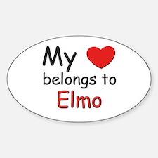 My heart belongs to elmo Oval Decal