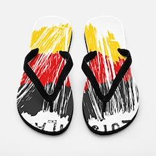 deutschland german flag Flip Flops