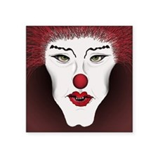 "wt-clown-red-notecards Square Sticker 3"" x 3"""