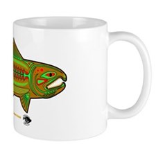 CAFE007RetroSalmon Mug
