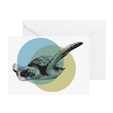MIGRATING SEA TURTLE Greeting Card