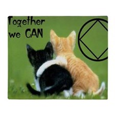cats together Throw Blanket