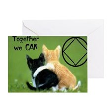 cats together Greeting Card