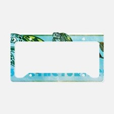 Four Turtles at Sea License Plate Holder