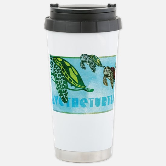 Four Turtles at Sea Stainless Steel Travel Mug
