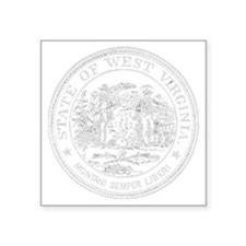 "Vintage West Virginia Seal Square Sticker 3"" x 3"""
