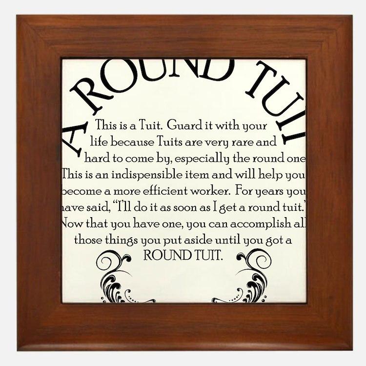 ARoundTuit Framed Tile