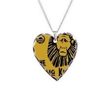 Obama: the Lying King Necklace Heart Charm