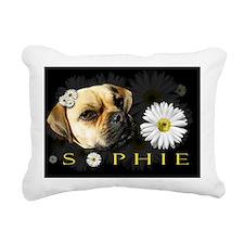 Sophie Black Rectangular Canvas Pillow