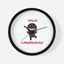 Ninja Cardiologist Wall Clock