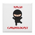 Ninja Cardiologist Tile Coaster