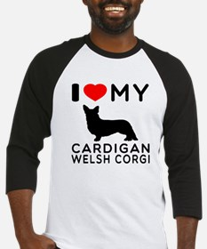 I Love My Cardigan Welsh Corgi Baseball Jersey