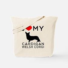 I Love My Cardigan Welsh Corgi Tote Bag