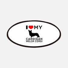 I Love My Cardigan Welsh Corgi Patches