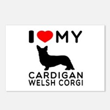 I Love My Cardigan Welsh Corgi Postcards (Package