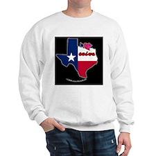 TXstateFlagILYbbt Sweatshirt
