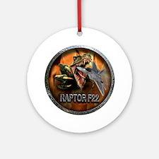 raptor f22 Round Ornament