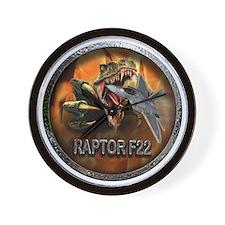 raptor f22 Wall Clock