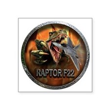 "raptor f22 Square Sticker 3"" x 3"""