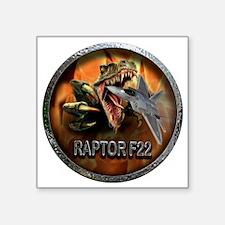 """raptor f22 Square Sticker 3"""" x 3"""""""