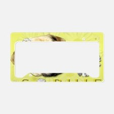 Sophie  Yellow License Plate Holder