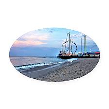 Seaside Heights Ferris Wheel Oval Car Magnet