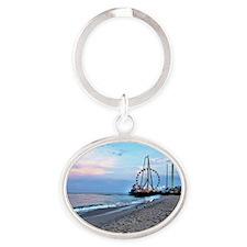 Seaside Heights Ferris Wheel Oval Keychain