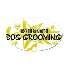 DOG GROOMING Oval Car Magnet