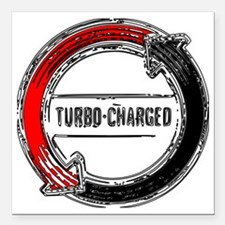 "turbo color Square Car Magnet 3"" x 3"""