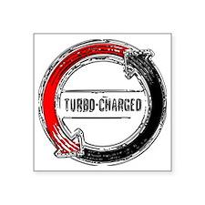 """turbo color Square Sticker 3"""" x 3"""""""