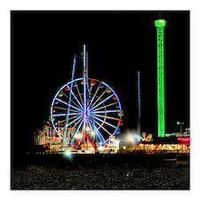 """Ferris Wheel Square Car Magnet 3"""" x 3"""""""