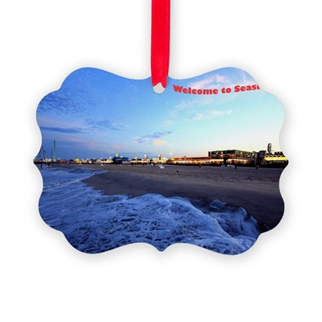Seaside Heights Boardwalk Picture Ornament