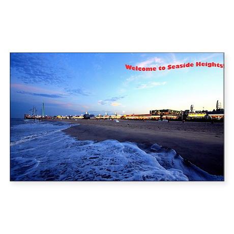 Seaside Heights Boardwalk Sticker (Rectangle)