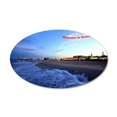 Seaside Heights Boardwalk 35x21 Oval Wall Decal