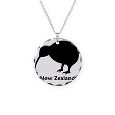Kiwi - NZ Text Necklace Circle Charm