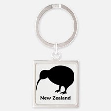 Kiwi - NZ Text Square Keychain