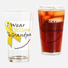 i_wear_yellow_for_my_grandpa Drinking Glass