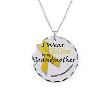 i_wear_yellow_for_my_grandmo Necklace