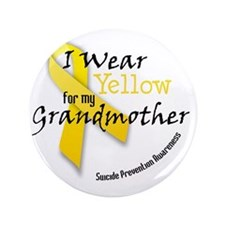 """i_wear_yellow_for_my_grandmother 3.5"""" Button"""