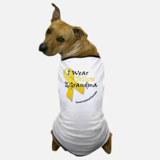 i_wear_yellow_for_my_grandma Dog T-Shirt