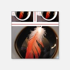 """feather cup Square Sticker 3"""" x 3"""""""