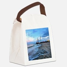 Beachfront Seaside Canvas Lunch Bag