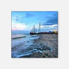 "Beachfront Seaside Square Sticker 3"" x 3"""