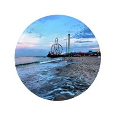 "Beachfront Seaside 3.5"" Button"