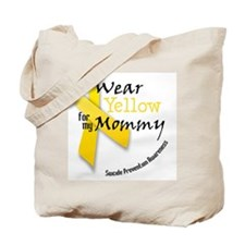 i_wear_yellow_for_my_mommy Tote Bag
