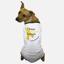 i_wear_yellow_for_my_uncle Dog T-Shirt