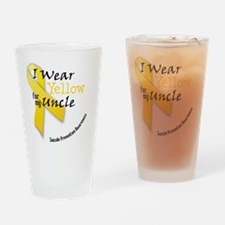 i_wear_yellow_for_my_uncle Drinking Glass