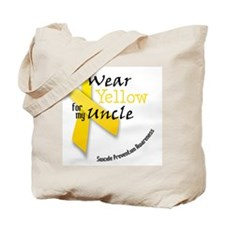i_wear_yellow_for_my_uncle Tote Bag