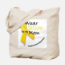 i_wear_yellow_for_my_mom Tote Bag