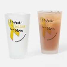 i_wear_yellow_for_my_mom Drinking Glass